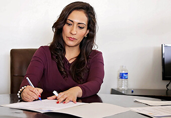 Attending to paperwork