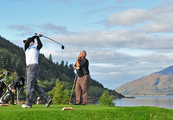 golfers in Scotland